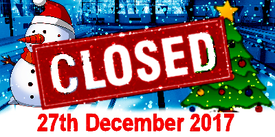 27th December - Closed for Christmas!