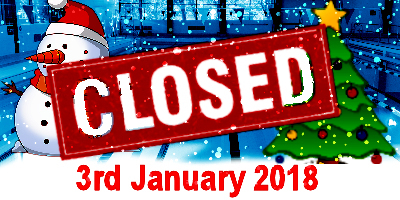 3rd January - Closed for Christmas!