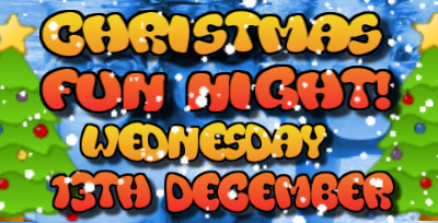 Christmas FUN NIGHT for all swimmers! Wednesday 13 December from 7.00pm to 8.30pm